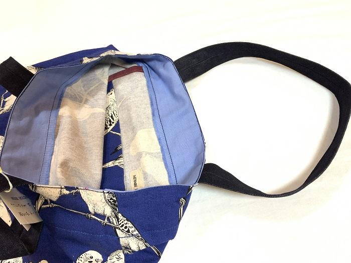 【ケースに入れたウクレレと楽譜を一緒に収納】MIYABI ハンドメイド 縦型トートバッグ #563