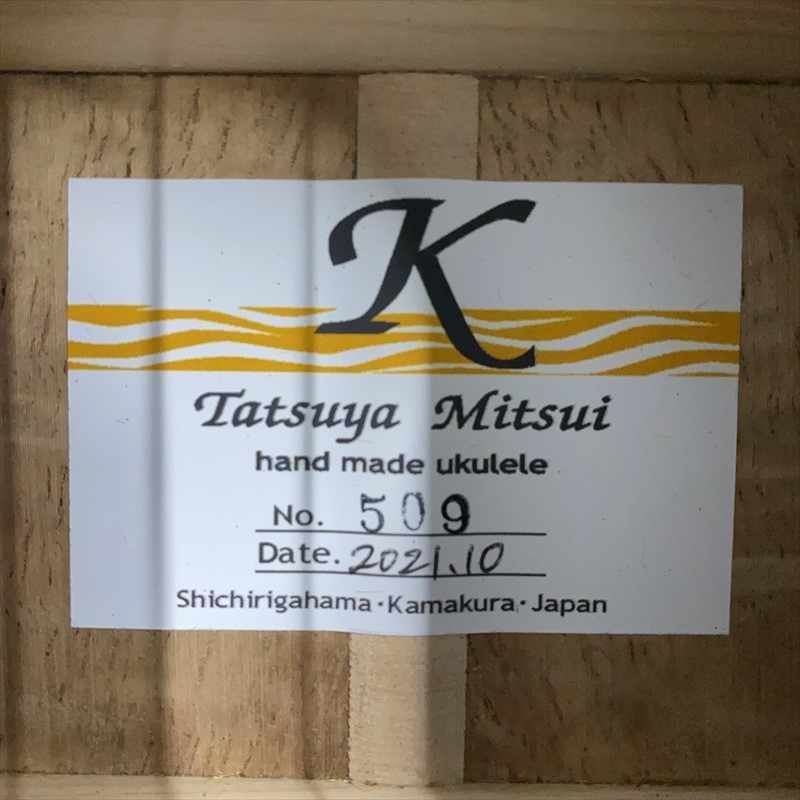 【Tatsuya Mitsui】type K  No.509 コンサートサイズ