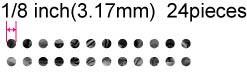 【ウクレレ用ステッカー】スモール・ドット (2色) ※ネコポス対応商品