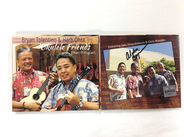 ラスト1枚【CD/Bryan Tolentino & Herb Ohta, Jr.】Ukulele Friends The Sequel※ブライアンサイン入り