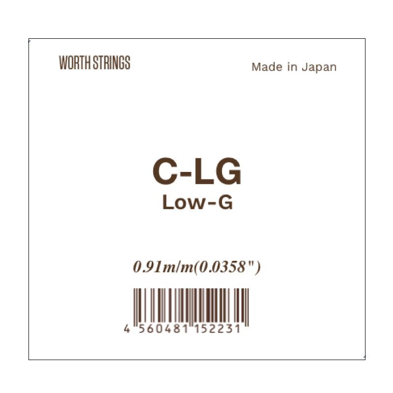 Worth 弦 (C-LG : クリアフロロカーボン LowG 単品)※ネコポス可