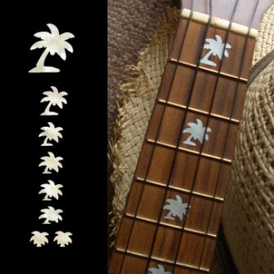 【ウクレレ用ステッカー】指板用 ヤシの木 ※ネコポス対応商品