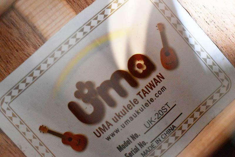 【Uma Ukulele】UK-20SC コンサート