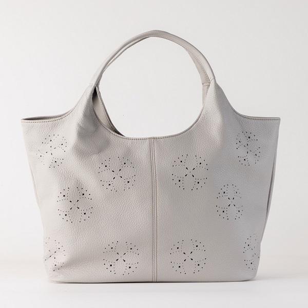 軽いやぎ革パンチング加工2wayトートバッグ【C-033】