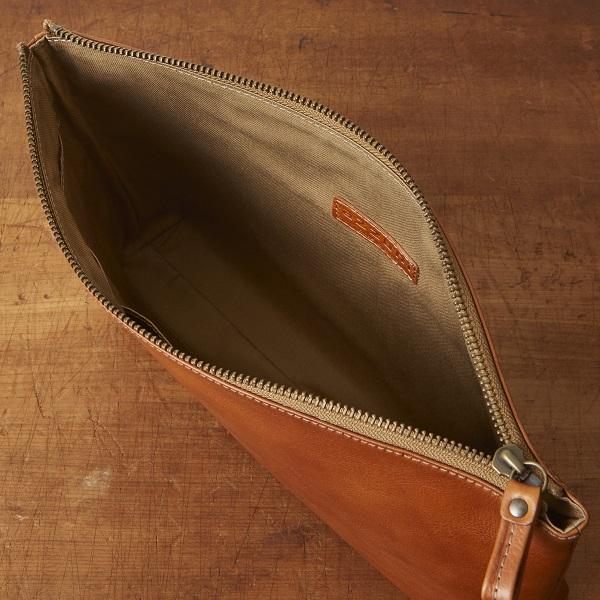 牛革タンニン鞣し クラッチバッグ【AZ-071】
