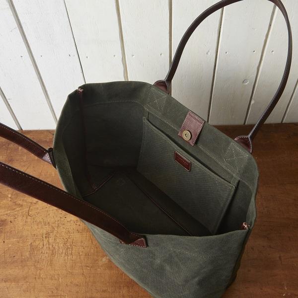 帆布×牛革ビッグトートバッグ【SA201】