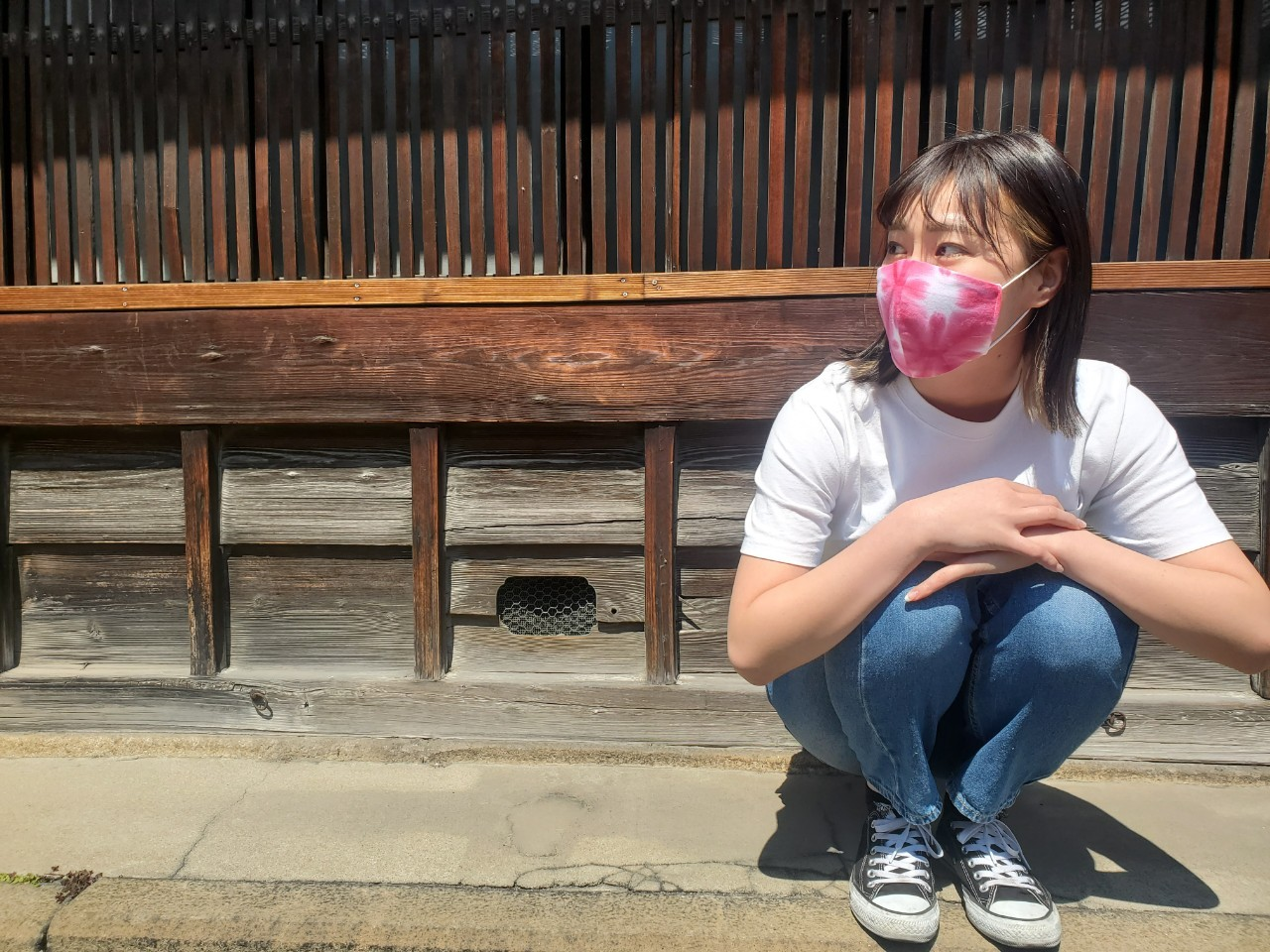 有松絞り マスク