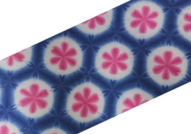 雪花絞り手ぬぐい 2色 紺と桜