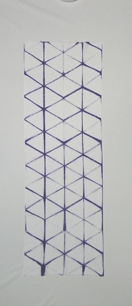 板締め手ぬぐい 紫