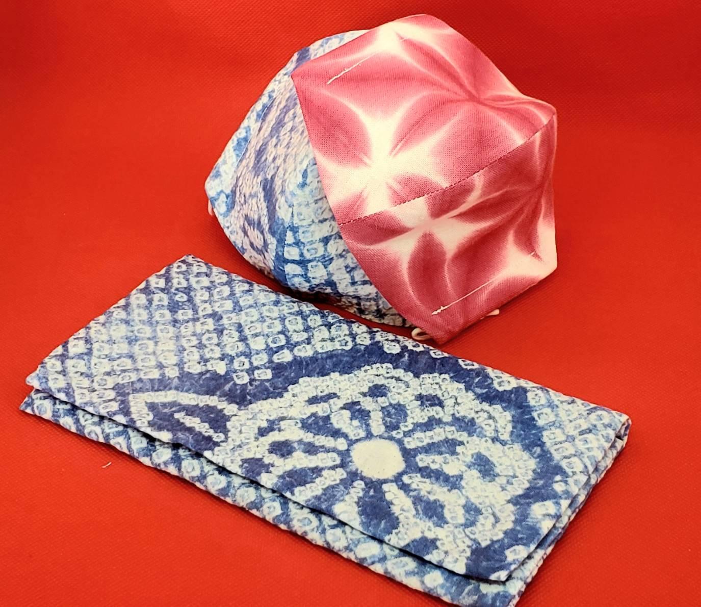 有松絞りマスクカバー(プラチナナノ加工)