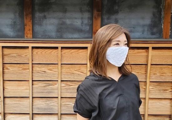 有松絞りマスク接触冷感使用