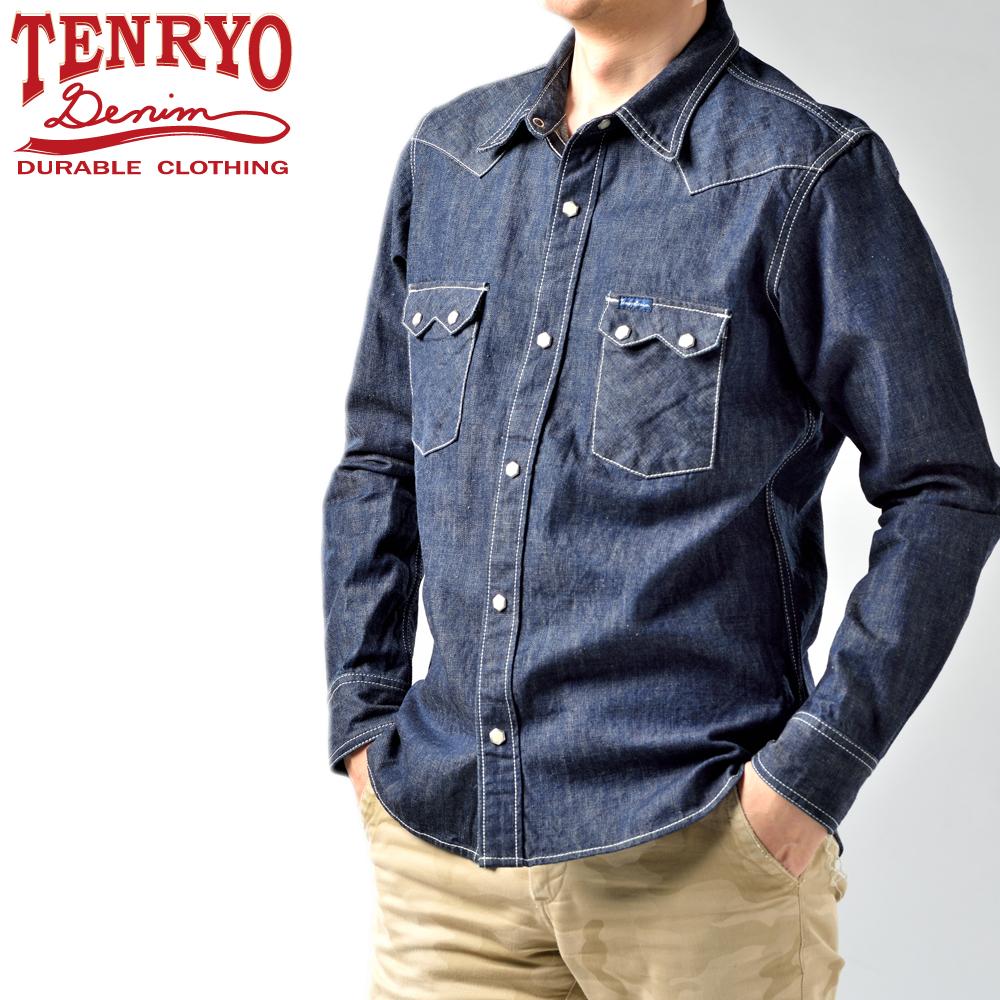 【TDS002】 倉敷天領デニム TENRYO DENIM 10ozデニム オリジナルウェスタンシャツ