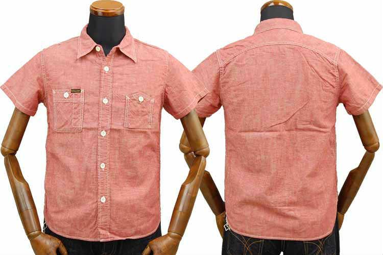 【SGS2001】 ストライクゴールド THE STRIKEGOLD セルビッチコットンリネン半袖ワークシャツ