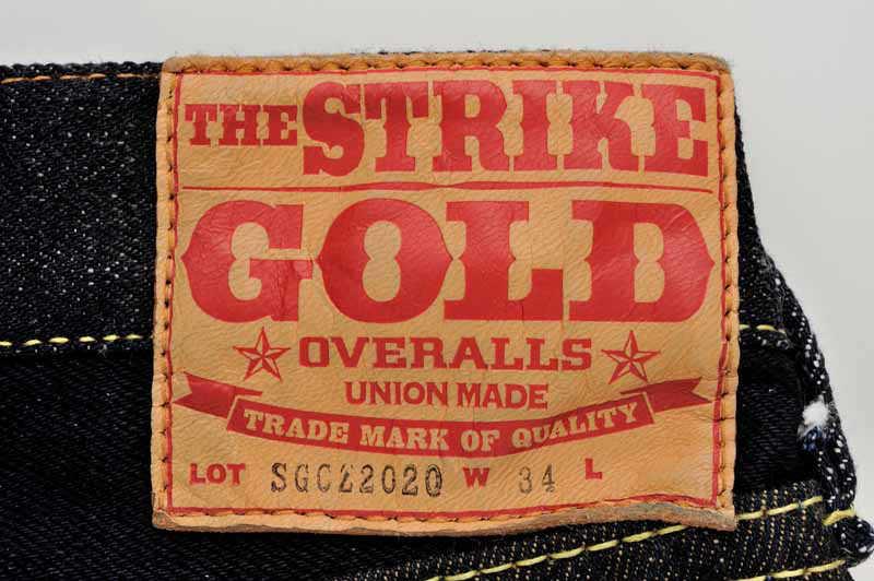 【SGCZ2020】 The Strike Gold ストライクゴールド オリジナルデニムコラボレーション 5Pジーンズ レギュラーテーパードストレート