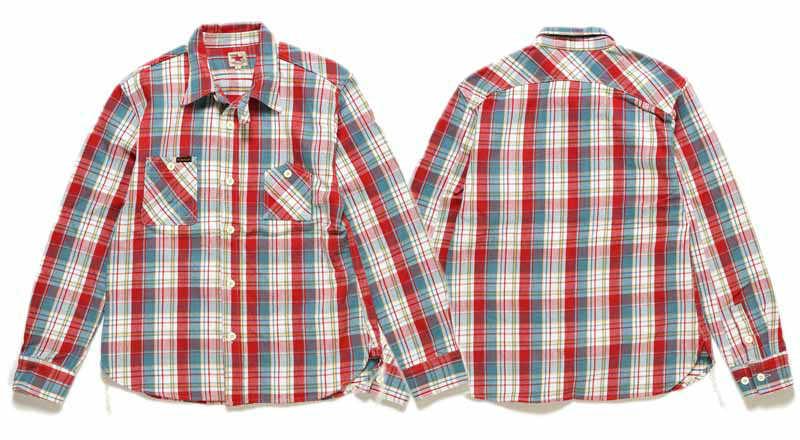 【SGS2004】 ストライクゴールド THE STRIKE GOLD ヘビーネルチェックワークシャツ HEAVY NEL CHECK WORK SHIRTS