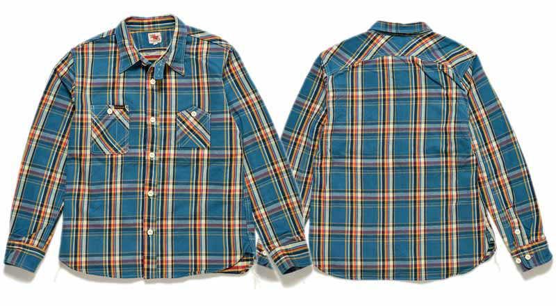 【SGS2005】 ストライクゴールド THE STRIKE GOLD ヘビーネルチェックワークシャツ HEAVY NEL CHECK WORK SHIRTS