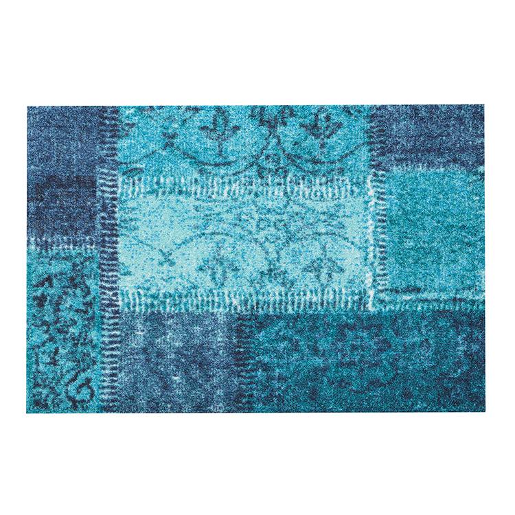 玄関マット wash+dry(ウォッシュ アンド ドライ) Vintage Patches turkis 50×75cm