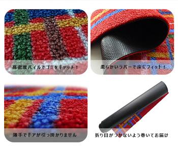 【受注生産】玄関マット Check 45×75cm