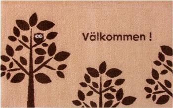 玄関マット Valkommen (Beige/Brown/Bersa) 50×80cm