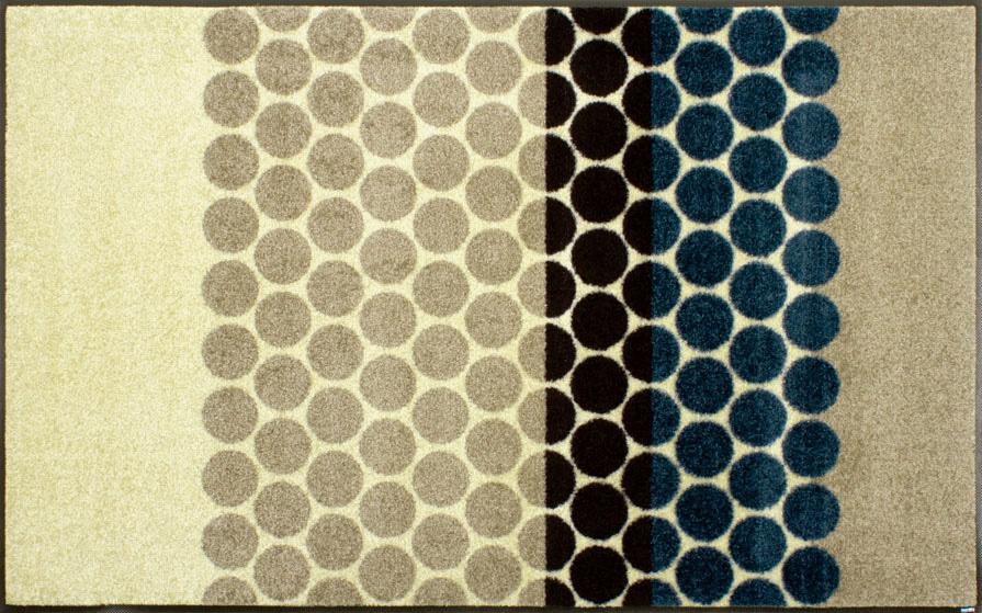 ラグマット wash+dry(ウォッシュ アンド ドライ) Mixed Dots 75×120cm