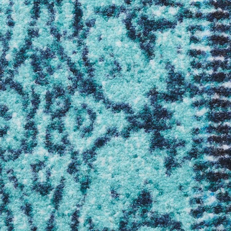 玄関マット wash+dry(ウォッシュ アンド ドライ) Vintage Patches turkis 75×120cm