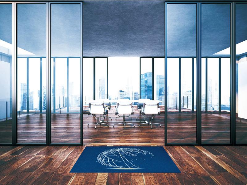【受注生産】玄関マット オフィス用マット Office & Decor Globe / グローブ 90×180cm