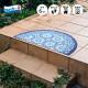 玄関マット wash+dry(ウォッシュ アンド ドライ) Round Oriental  50×85cm