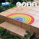玄関マット wash+dry(ウォッシュ アンド ドライ) Round Rainbow 50×85cm