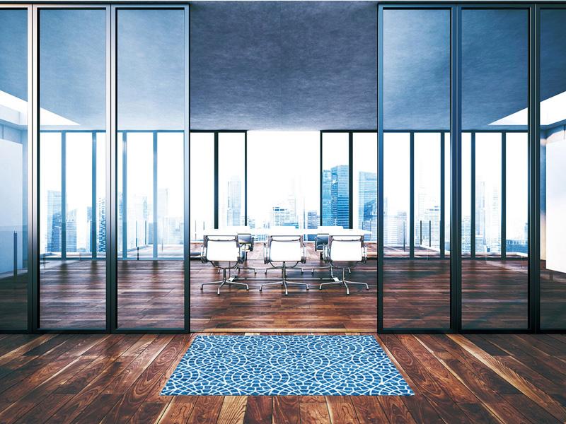 【受注生産】玄関マット オフィス用マット Office & Decor Aqua / アクア 90×180cm