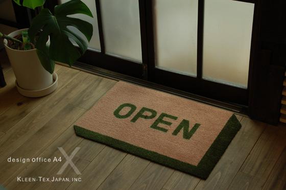 【受注生産】玄関マット WORDS BLOCK [OPEN] 40×60cm