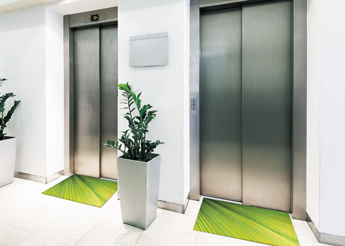 【受注生産】玄関マット オフィス用マット Office & Decor Organic Leaf / オーガニックリーフ  120×160cm