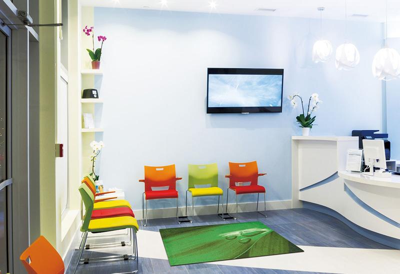 【受注生産】玄関マット オフィス用マット Office & Decor Leaf Drop / リーフドロップ  120×160cm
