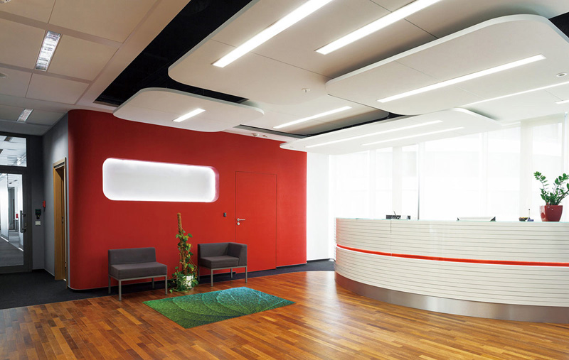 【受注生産】玄関マット オフィス用マット Office & Decor Green Veins / グリーンベインズ 120×160cm