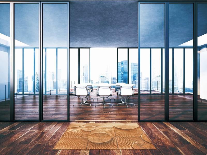 【受注生産】玄関マット オフィス用マット Office & Decor Woodchair / ウッドチェアー 120×160cm