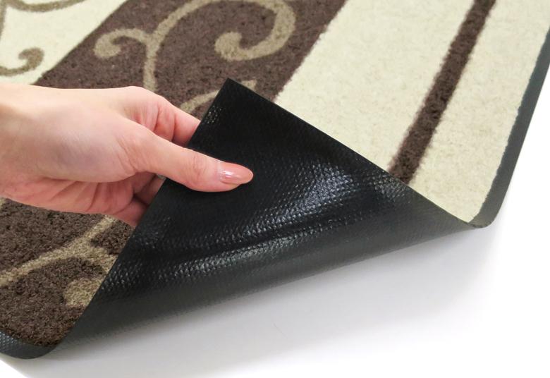 ラグマット wash+dry(ウォッシュ アンド ドライ) Ranke braun 75×120cm