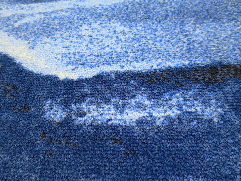 【受注生産】玄関マット オフィス用マット Office & Decor Blue Marble / ブルーマーブル 120×160cm