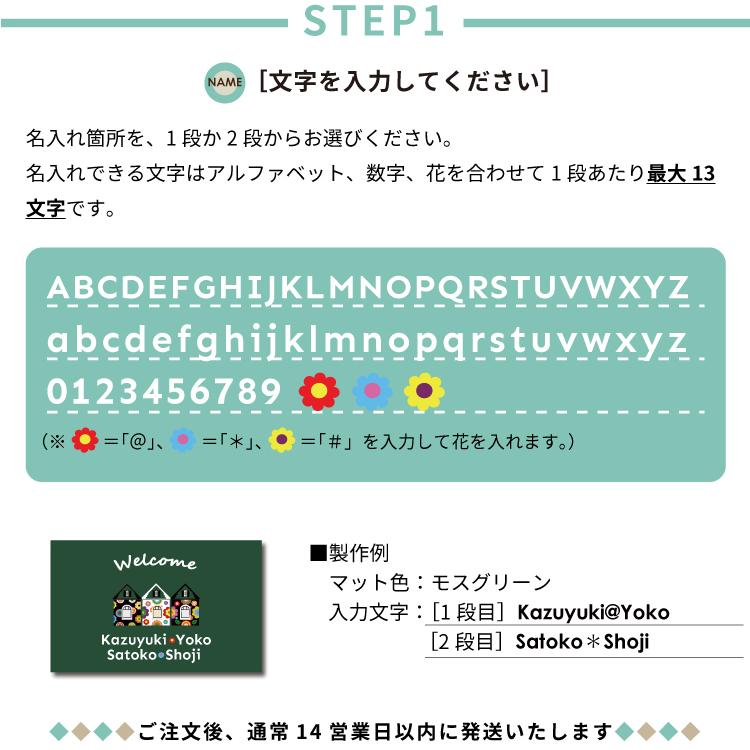 kanvas【受注生産】オリジナル名入れ玄関マット Welcome House 50×80cm