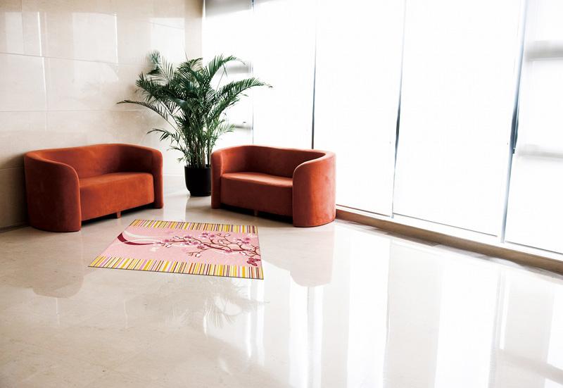 玄関マット オフィス用マット Office & Decor Cherry Road / チェリーロード 120×160cm