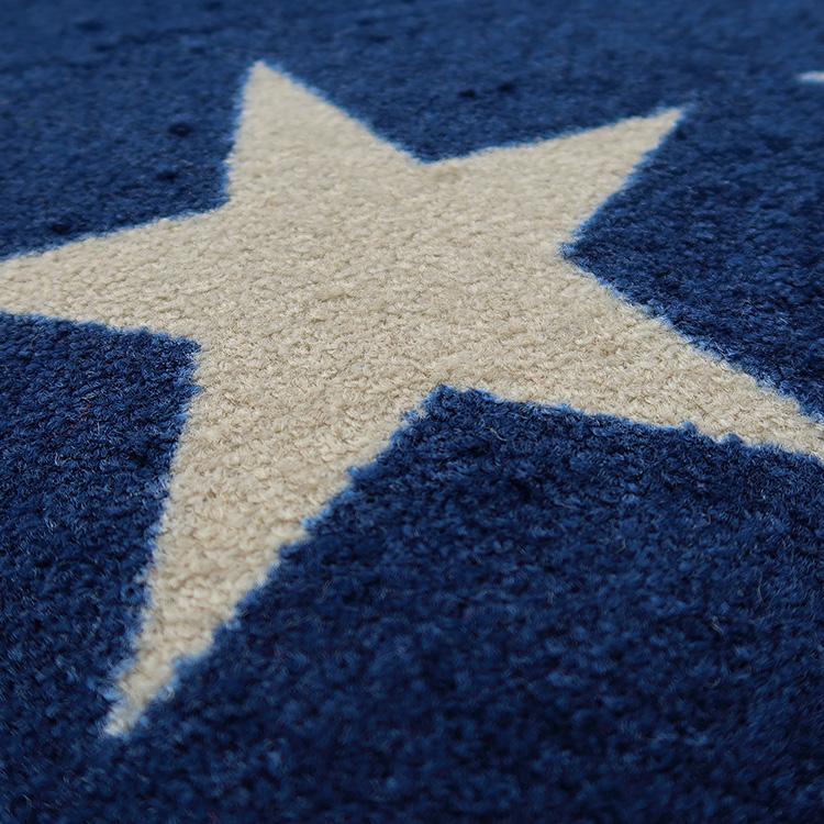 玄関マット wash+dry(ウォッシュ アンド ドライ) Stars navy 75×120cm