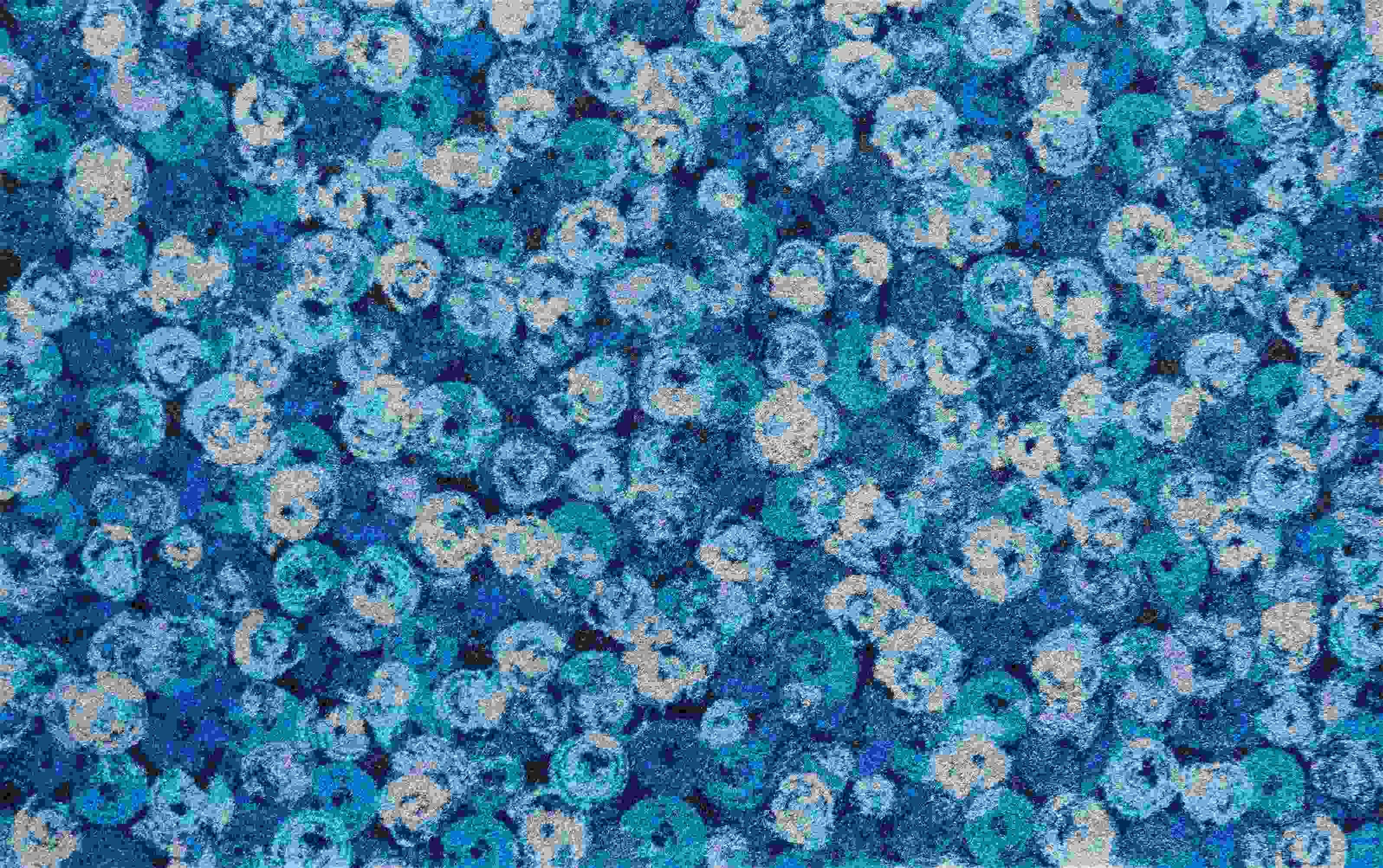ラグマット wash+dry(ウォッシュ アンド ドライ) Punilla blue 140×200cm