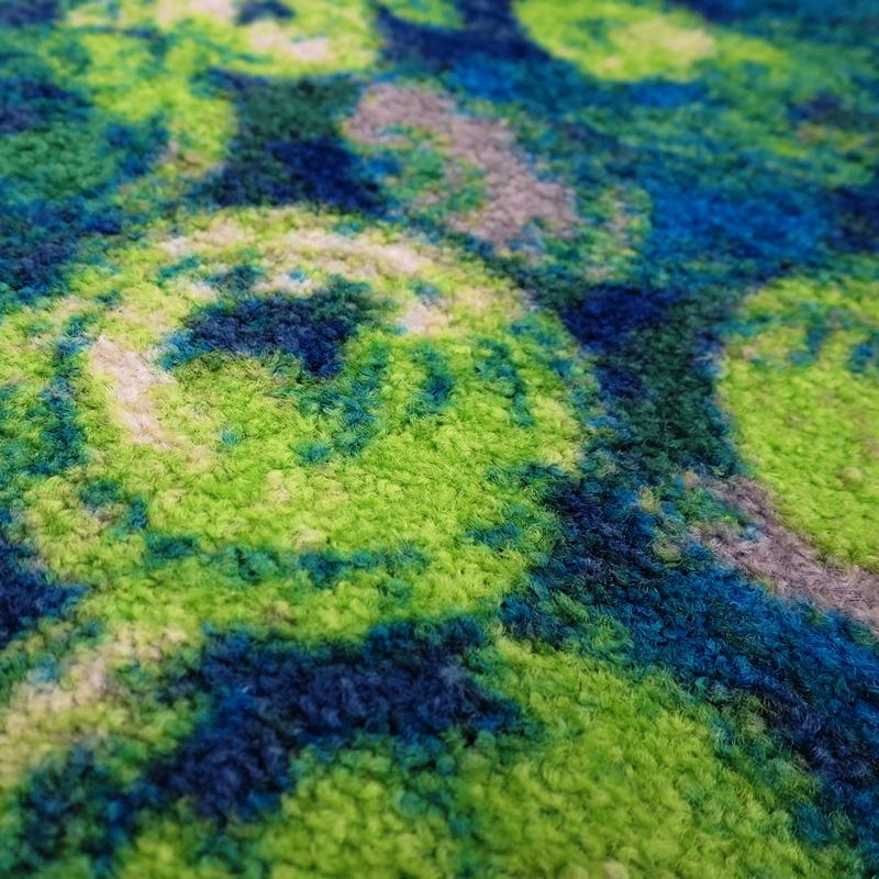 ラグマット wash+dry(ウォッシュ アンド ドライ) Punilla red / green 110×175cm