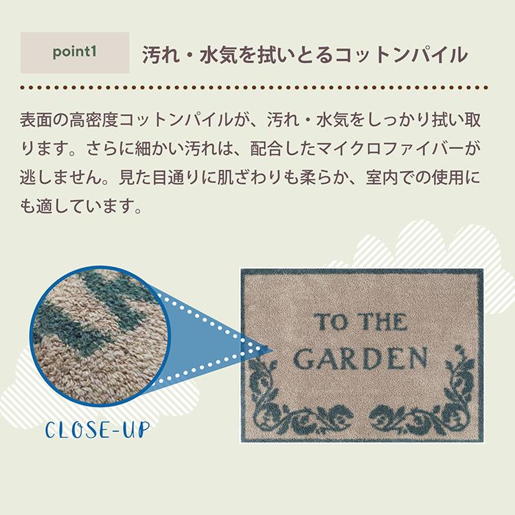 玄関マット Turtle Mat (タートルマット) TM Charcoal Stripe 60×85cm