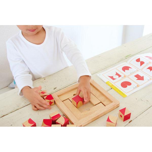 Little Genius CUBE 木のおもちゃ 木製玩具