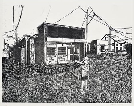 版画 : 奥山庸子「空想売買取扱店」