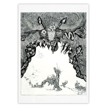 小松美羽 和紙のポストカード「六道輪廻」