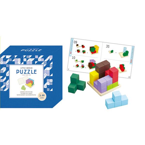 Little Genius PUZZLE 木のおもちゃ 木製玩具