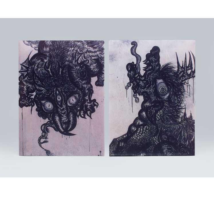 小松美羽 和紙のクリアファイル《蜃気楼/麒麟》