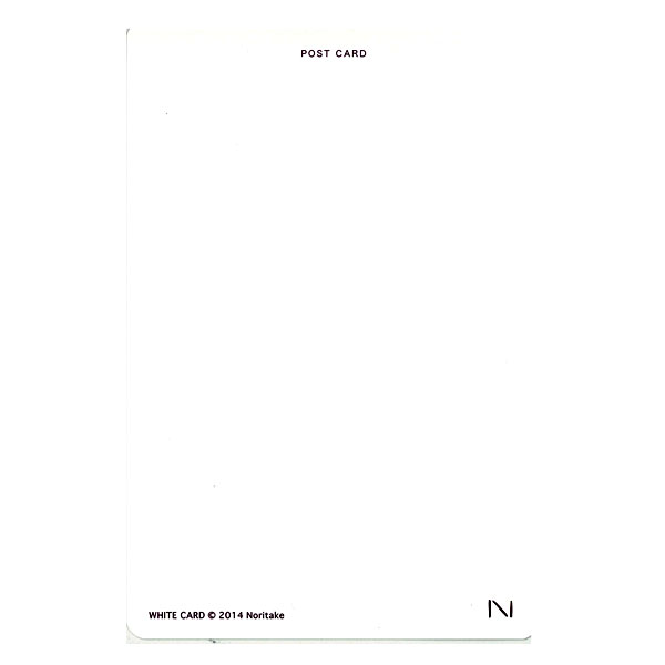 noritake WHITE CARD POSTCARD