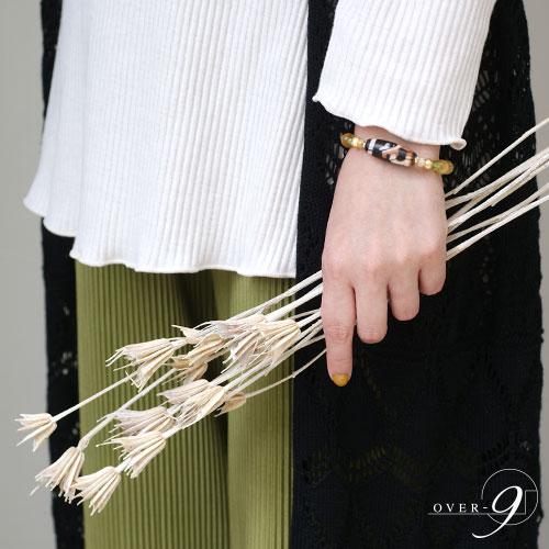 Gold rush 〜紅朱砂 宝瓶天珠ブレスレット〜  【メール便不可】