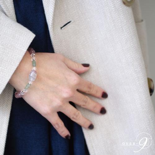 【Lumiere 〜光〜『老玉髄 白藍 大人天珠』】【メール便不可】 リュミエール